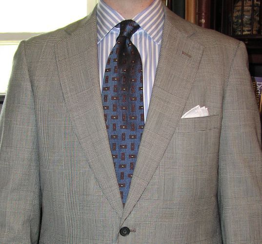 Ties Shirts For A Trad Black Glen Plaid Suit Ask