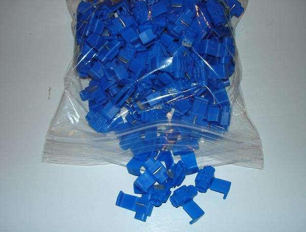 50 BLUE NYLON BUTT CONNECTORS14-16 GAUGE,LONG BARREL DOUBLE CRIMP
